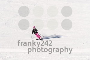 Female skier on empty ski slope - franky242 photography