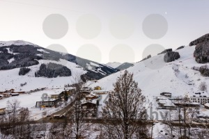 Morning in the ski area Saalbach-Hinterglemm in Austria - franky242 photography