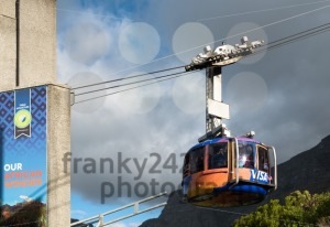 Table Mountain view with cable car in Cape Town, South Africa - franky242 photography