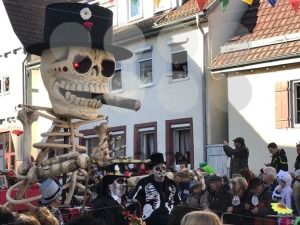 Traditional carnival procession in Germany referring to Dia de los Muertos - franky242 photography