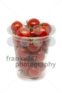 box of fresh sweet cocktail tomatoes - franky242 photography