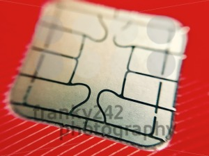 A closeup of credit card chip - franky242 photography