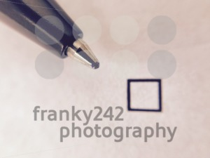 Check - ballpoint pen nest to empty check box - franky242 photography