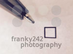 Check - ballpoint pen nest to empty check box - franky242 photography