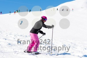 Female skier in fresh snow - franky242 photography