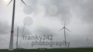 Wind turbines park and construction site - franky242 photography