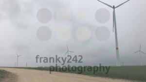 Wind turbines park and construction site, pan from right to left - franky242 photography
