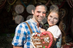 Young couple in love at Oktoberfest - franky242 photography