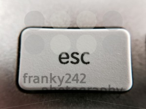 Closeup of esc key - franky242 photography