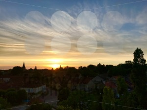 Small village panorama sunset view, France - franky242 photography