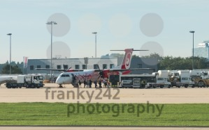 AirBerlin plane embarking at Stuttgart airport - franky242 photography