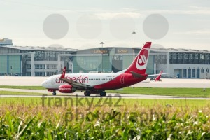 AirBerlin plane in front of Lufthansa hangar at Stuttgart airport - franky242 photography