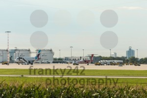 AirBerlin plane next to Eurowings plane at Stuttgart airport - franky242 photography
