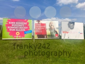 Billboards by major parties for the German Parliamentary Elections - franky242 photography