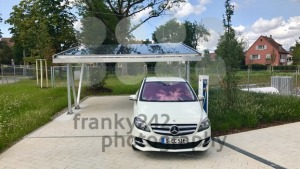 Merceds B-CLass electric car being charged - franky242 photography
