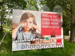 SPD billboard for the German Parliamentary Elections - franky242 photography
