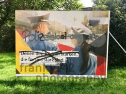 Vandalized CDU billboard for the German Parliamentary Elections