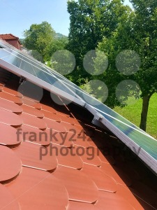 House roof with solar panels on top - franky242 photography
