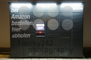 Amazon Locker station located next to an Aldi supermarket. - franky242 photography