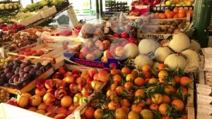 Fresh fruit and vegetables at open street market - franky242 photography