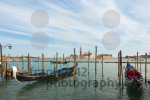 Gondolas moored in Venice, Italy - franky242 photography