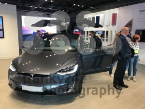 Tesla Model X in the showroom in Stuttgart, Germany - franky242 photography