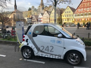 An electronic car charging in the city of Essslingen - franky242 photography