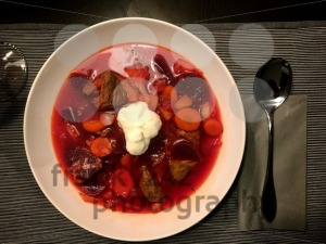 Borsch - beetroot soup in a bowl - franky242 photography