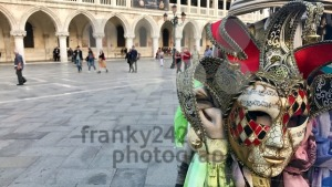 Doge's Palace and Masks at San Marco square, Venice, Italy - franky242 photography