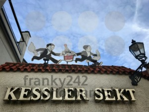 Old logo on the building of Kessler Sekt winery - franky242 photography