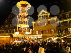 Beautiful medieval Christmas Market in Esslingen, Germany - franky242 photography