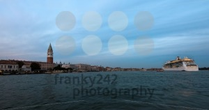 Panorama of Venice, Italy with cruise ship - franky242 photography