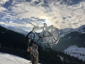 Alpine landscape and frozen bicycle - franky242 photography