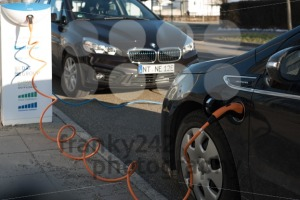 BMW i and Opel Ampera electric cars being charged - franky242 photography