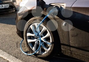 BMW i electric car being charged - franky242 photography