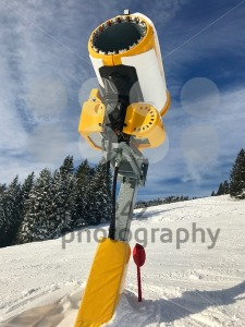 Snow cannon on skiing piste - franky242 photography