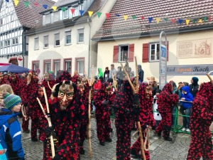 Traditional carnival in South Germany - Swabian-Alemannic Fastnacht. Witches costumes during the carnival procession. - franky242 photography