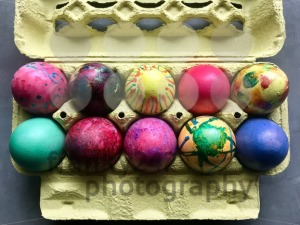 Box with painted easter eggs. - franky242 photography