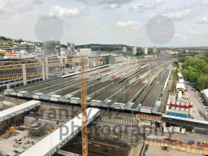 Construction site at Stuttgart main station for the Stuttgart21 railway project - franky242 photography