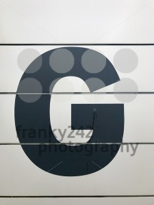 Entrance sign with letter G - franky242 photography
