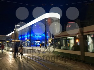 People and public transport at Koenigsplatz in Augsburg, Germany - franky242 photography