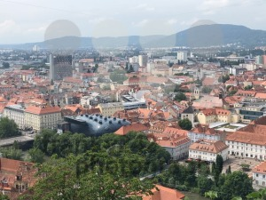 Aerial view of the historical city of Graz, Austria - franky242 photography