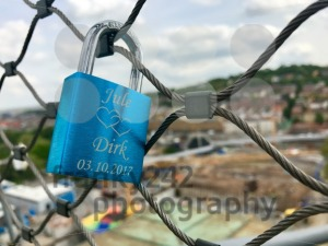 Love Lock at the construction site at Stuttgart main station for the Stuttgart21 railway project - franky242 photography