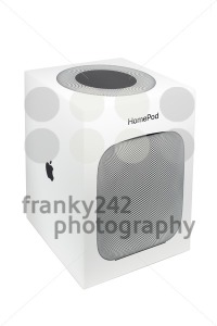 Packaging of an Apple HomePod speaker - franky242 photography