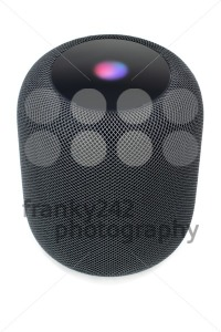 Using an Apple HomePod speaker on white - franky242 photography