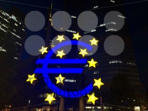 Euro sign at European Central Bank headquarters in Frankfurt - franky242 photography