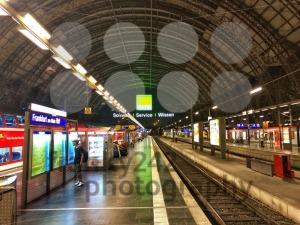Frankfurt Main Station in Germany at night - franky242 photography