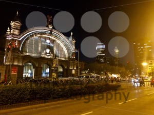 Frankfurt Main Station in Germany at night - franky242 photography