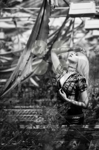 Beautiful woman portrait with punk make up and outfit - franky242 photography