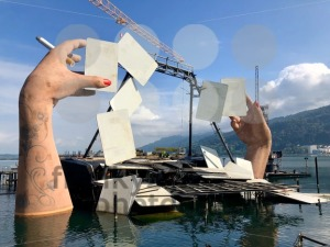 Deconstruction of the lake stage in Bregenz, Austria - franky242 photography